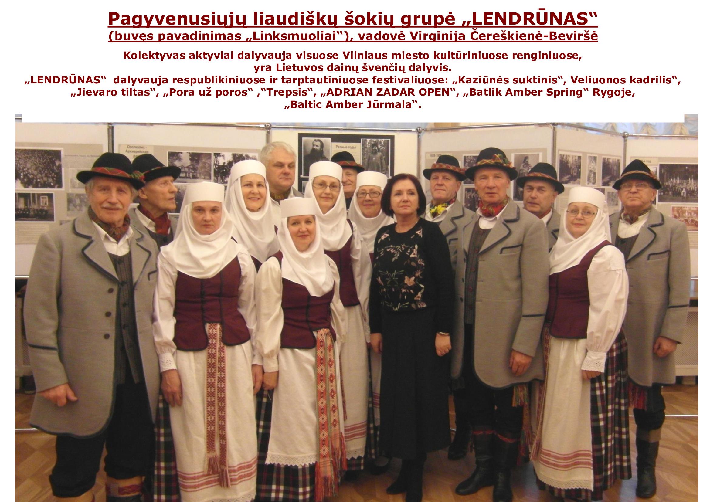 """Senjorų liaudiškų šokių grupė """"Lendrūnas"""""""